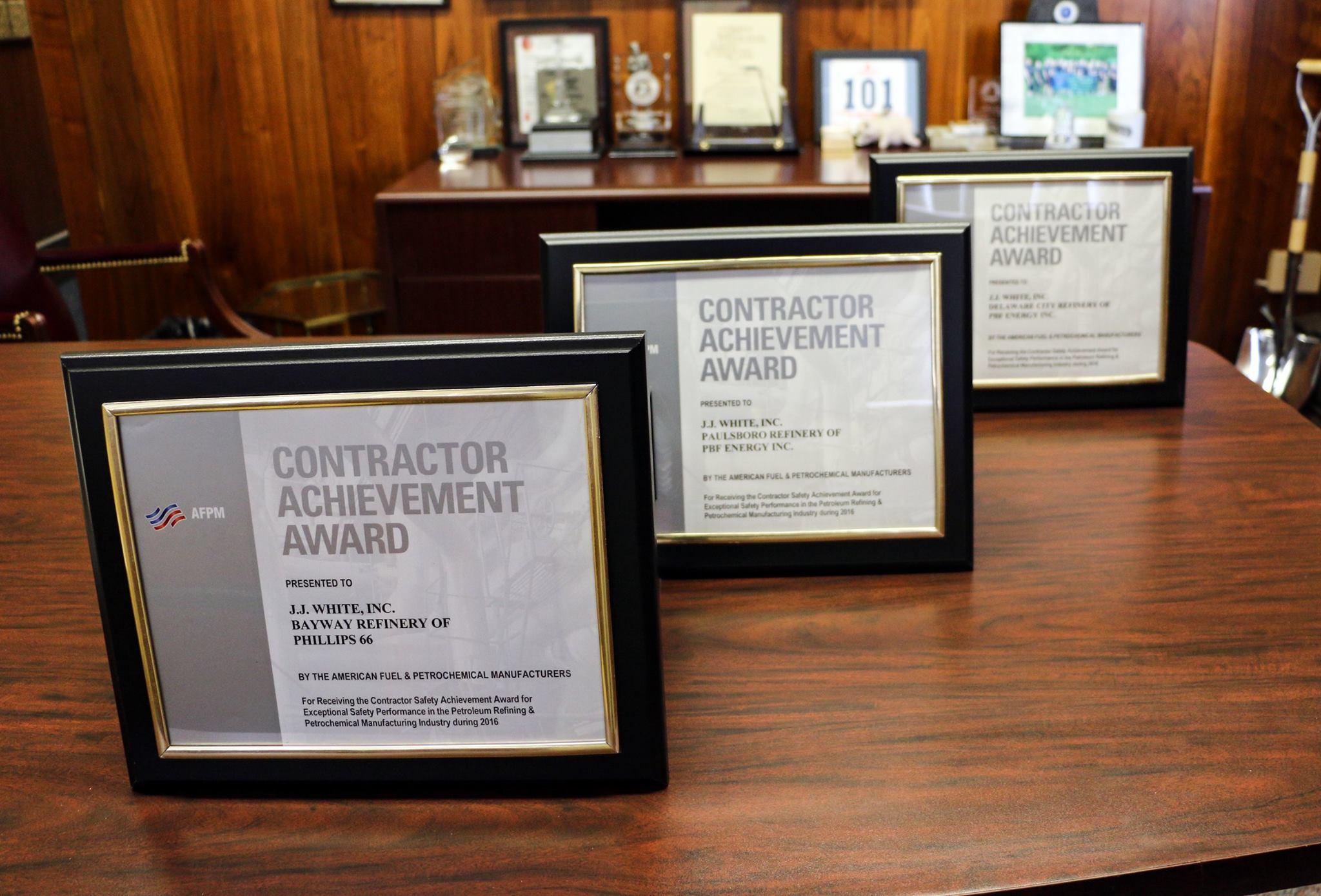 JJ White Brings Home Numerous Safety Awards - J J  White Inc