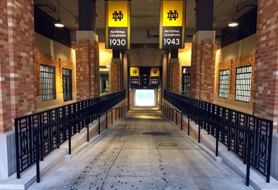 Notre Dame Locker Room J J White Inc
